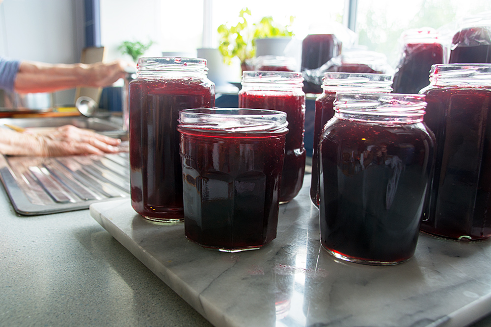 Late summer fruit – plums in jam