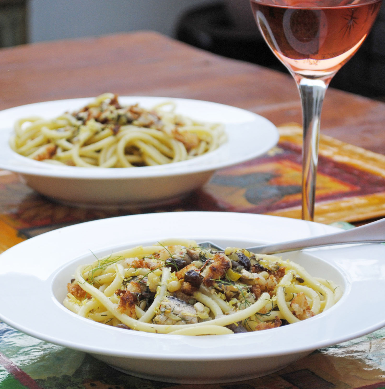 Spaghetti with sardines, fennel and pinenuts – a visit to beautiful ...