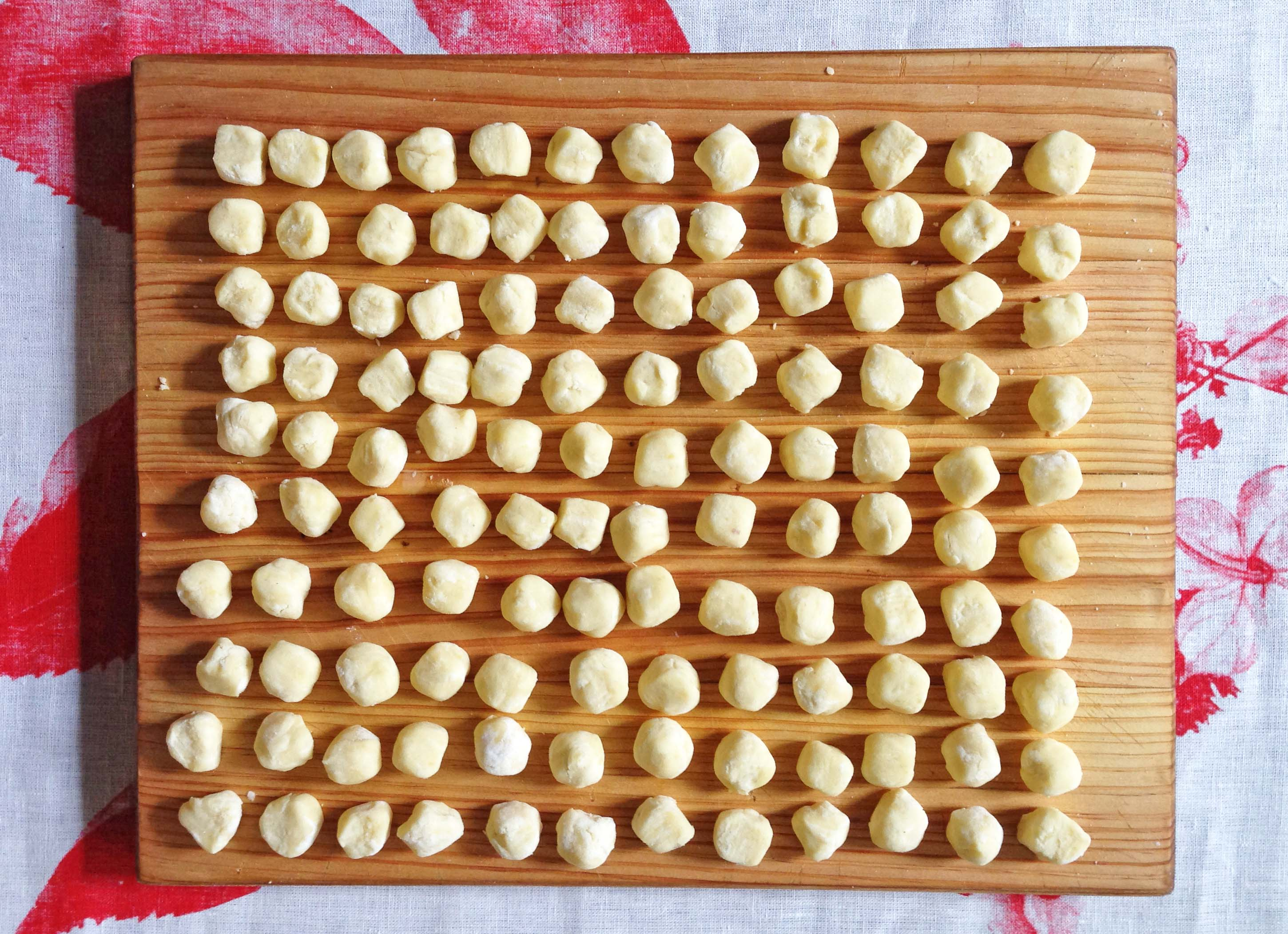 all rolled - gnocchi