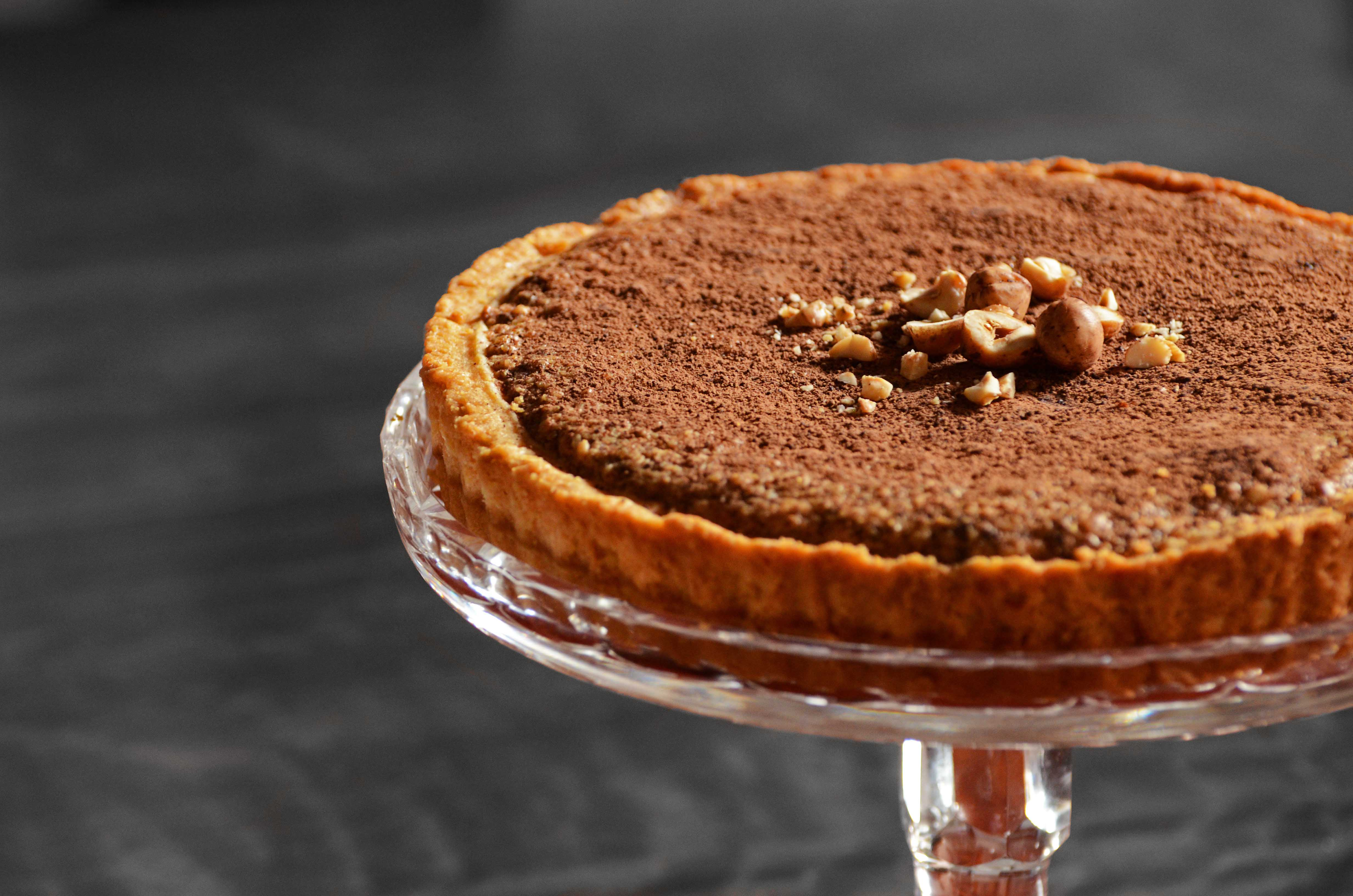 hazelnut chocolate tart- italy on my mind