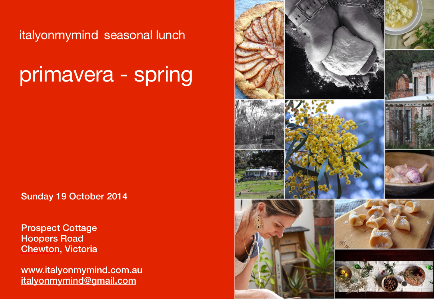 italyonmymind seasonal lunch – primavera – spring in Chewton