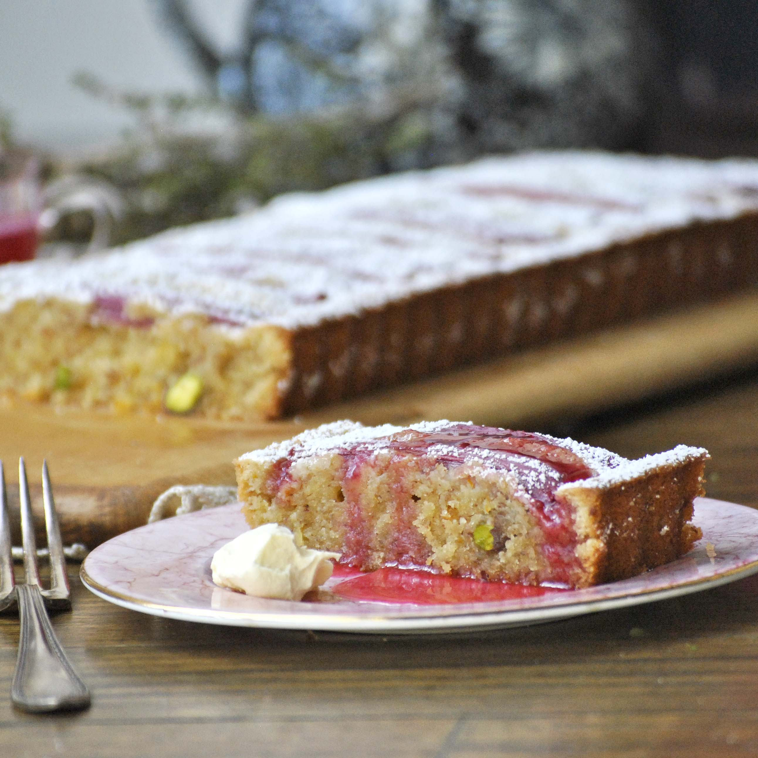 rhubarb cake-italy on my mind-foodgawker