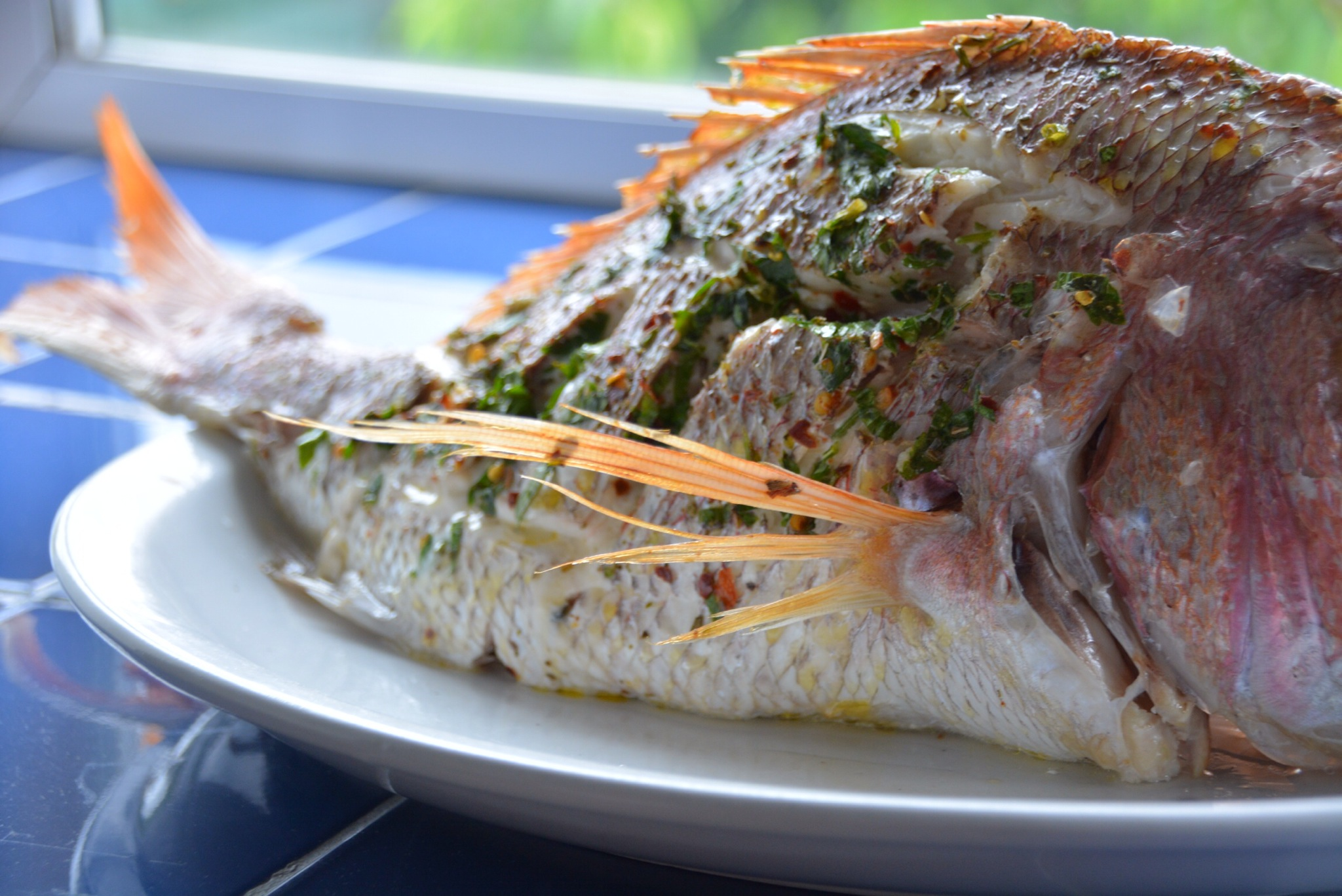 baked snapper detail - italy on my mind