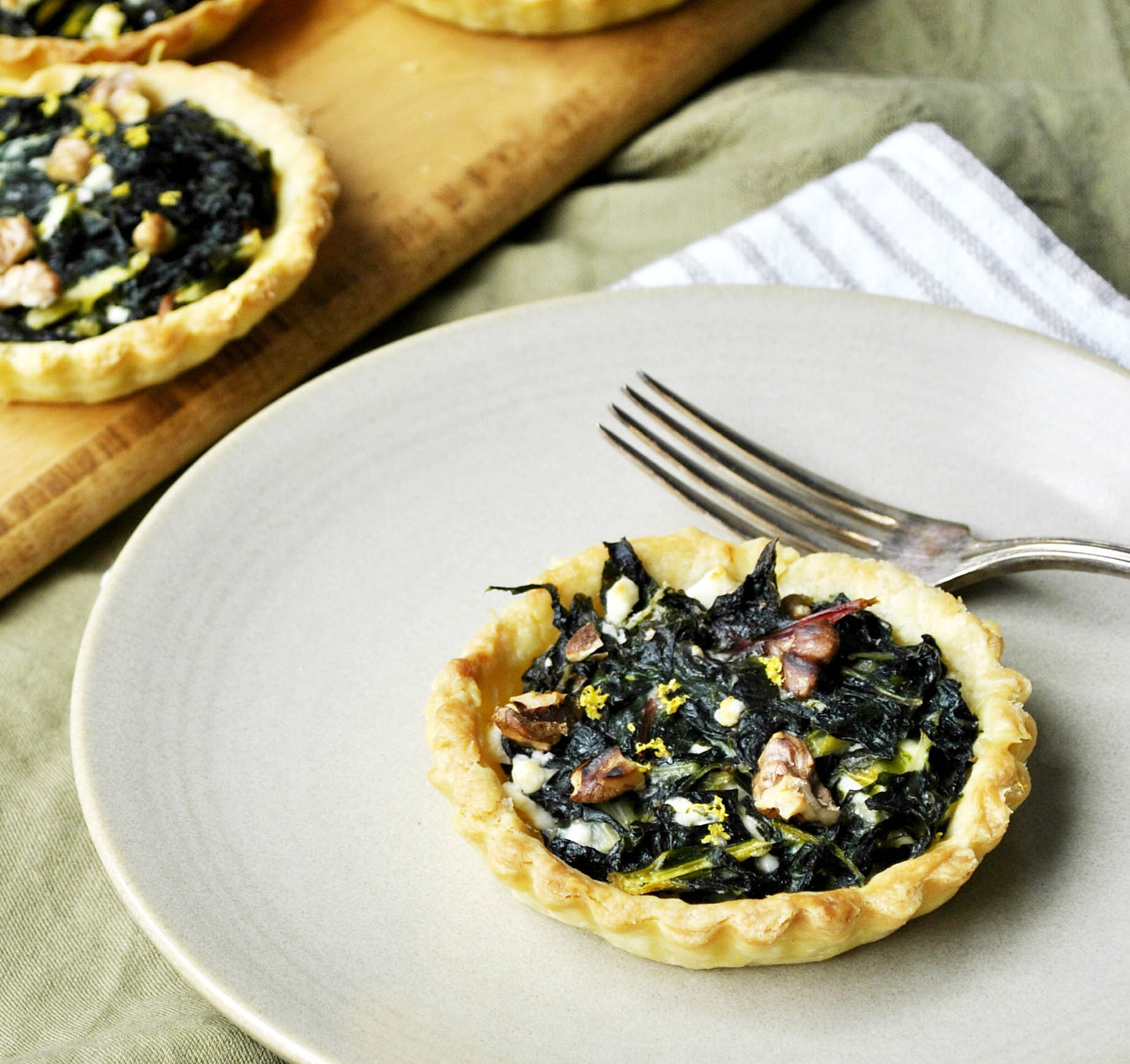 silver beet tarts-italy on my mind