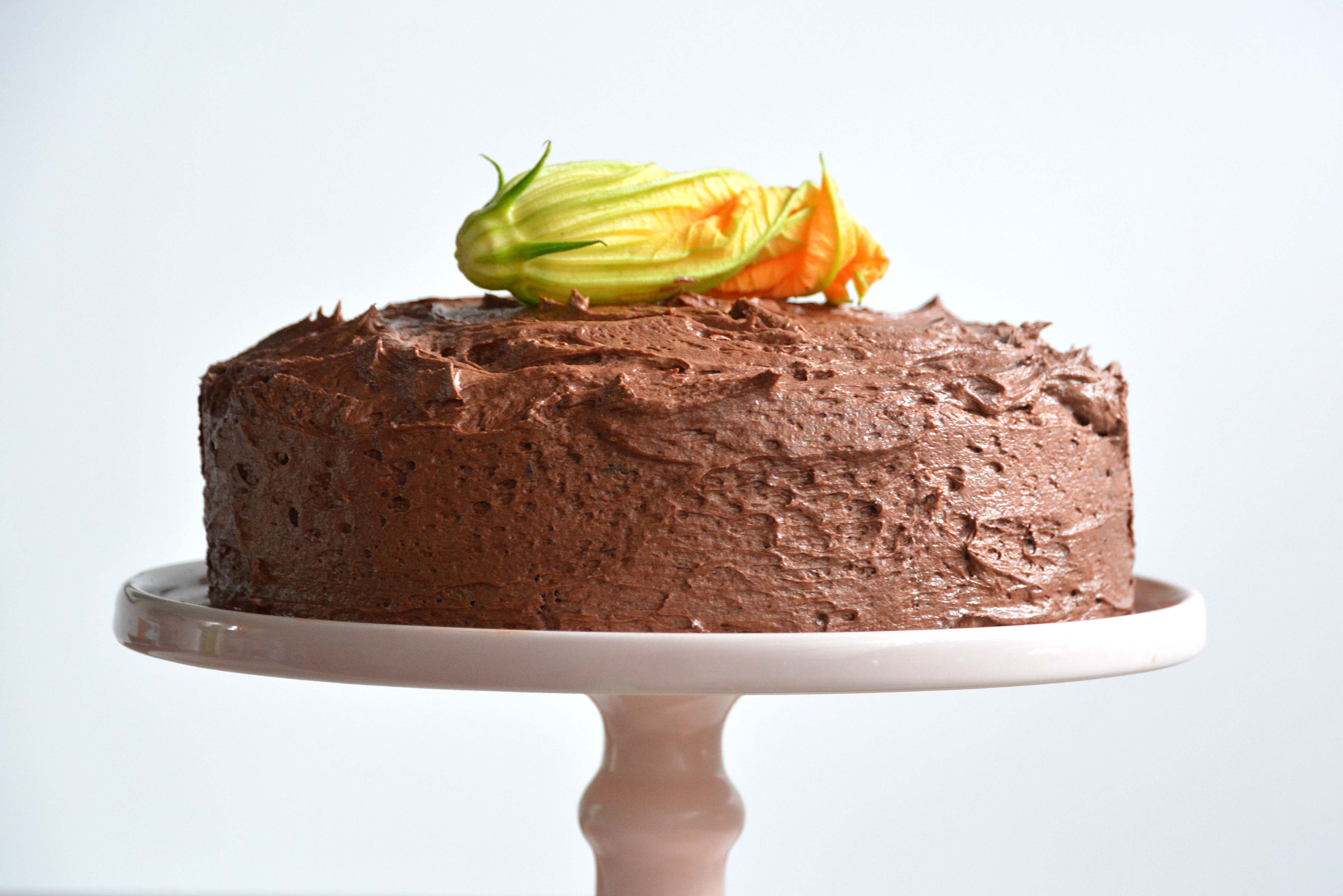 chocolate zucchini cake white background-gluten free-italy on my mind-best italian food blog