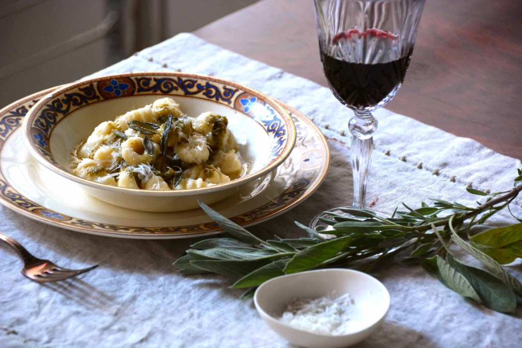plate of gnocchi with sage and walnut pesto-italy on my mind-5