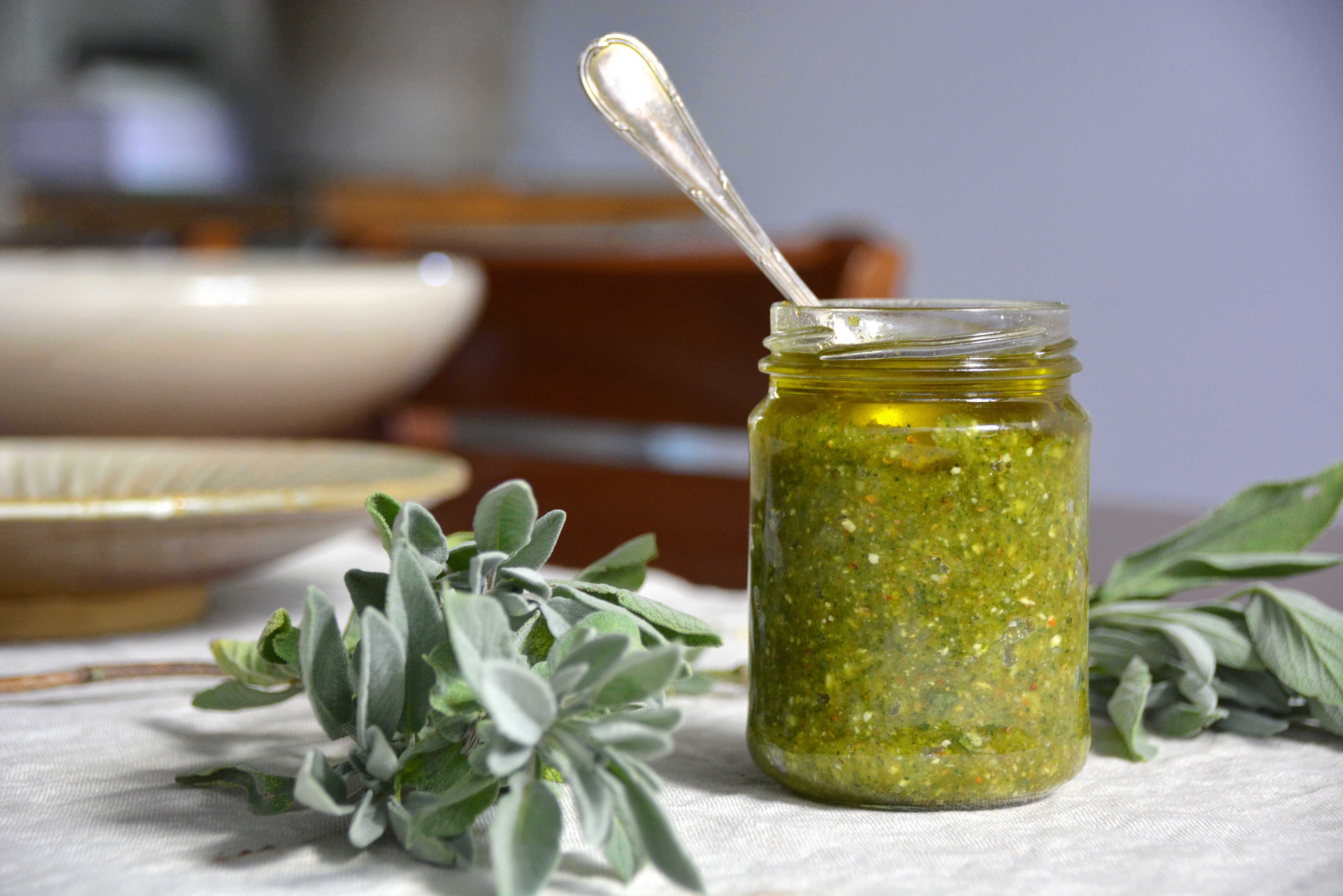 sage and walnut pesto-italy on my mind