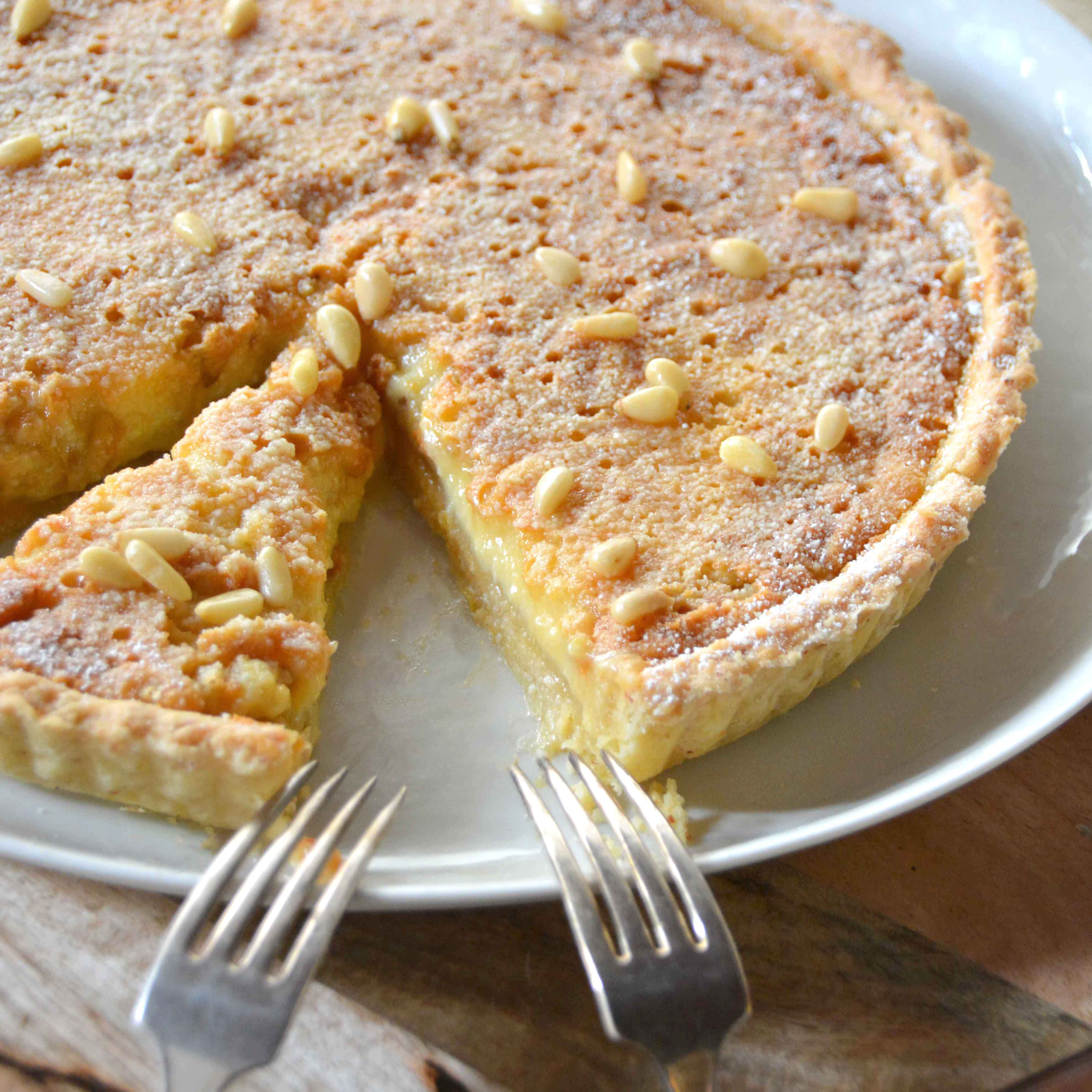 Pine nut, ricotta and lemon tart | italy on my mind