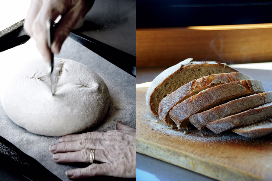 Making sourdough bread and bruschetta in Mansfield