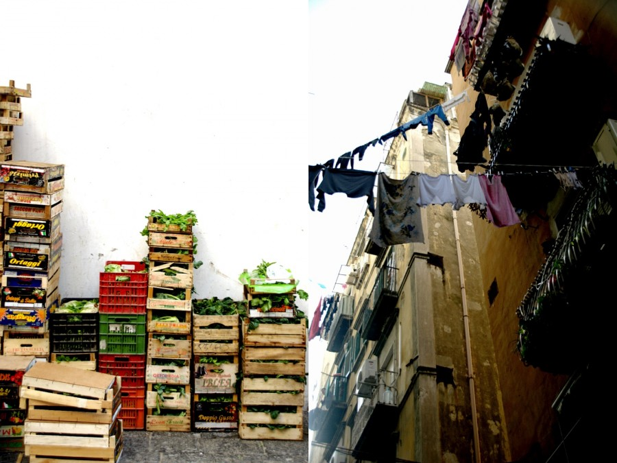 fruit crates-washing-Naples-Italy on my mind
