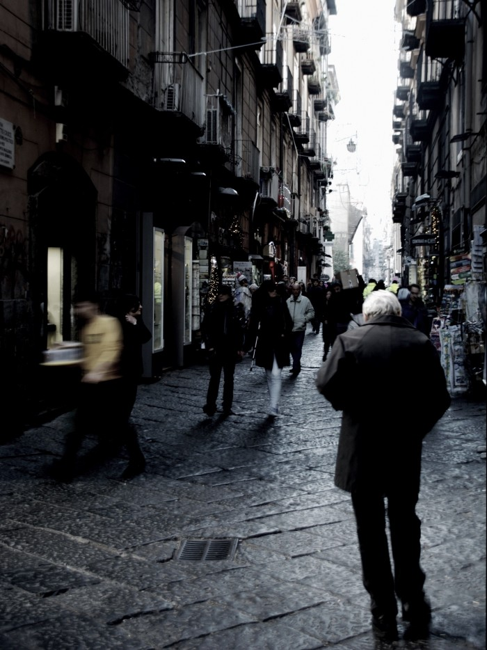 man on street-napoli-Italy on my mind