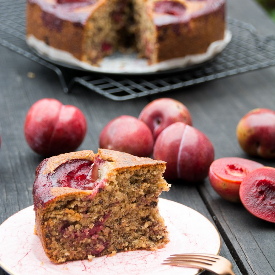 slice of plum cake - italy on my mind