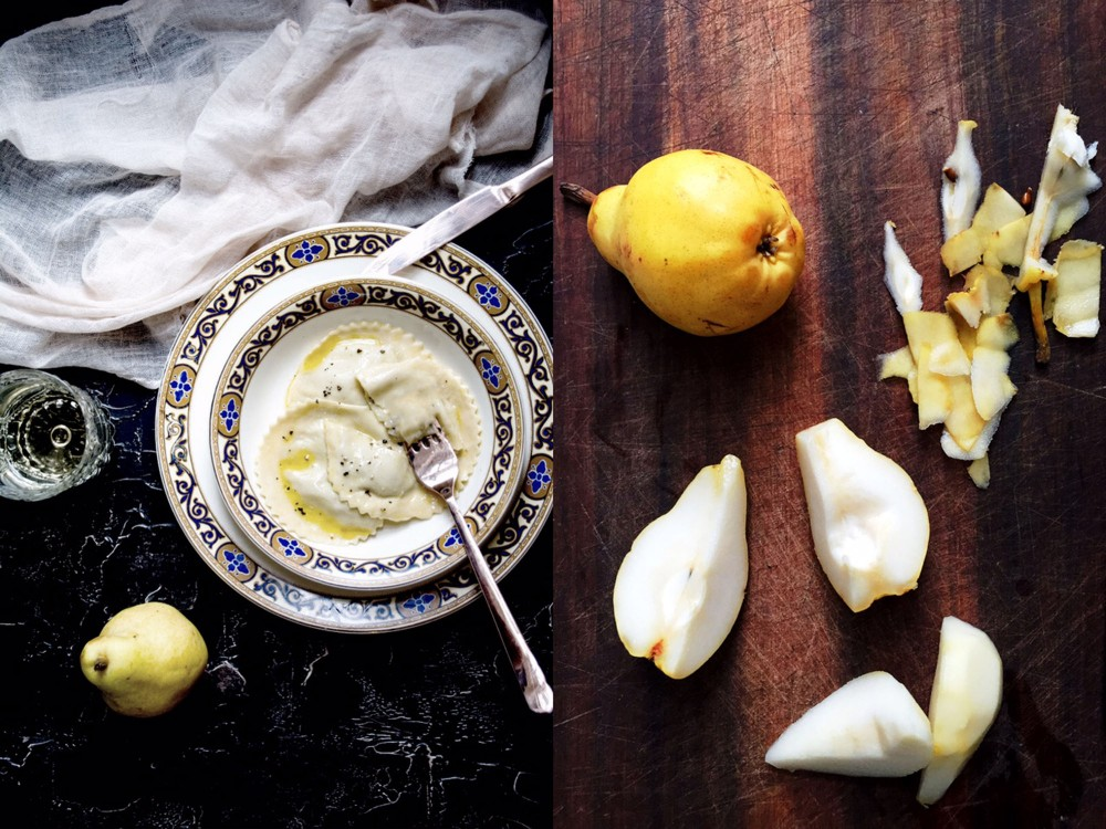 pear and blue cheese ravioli2-italy on my mind