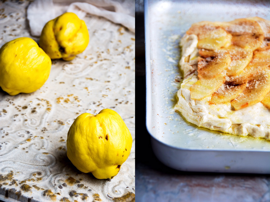 quinces and schiacciata-italy on my mind