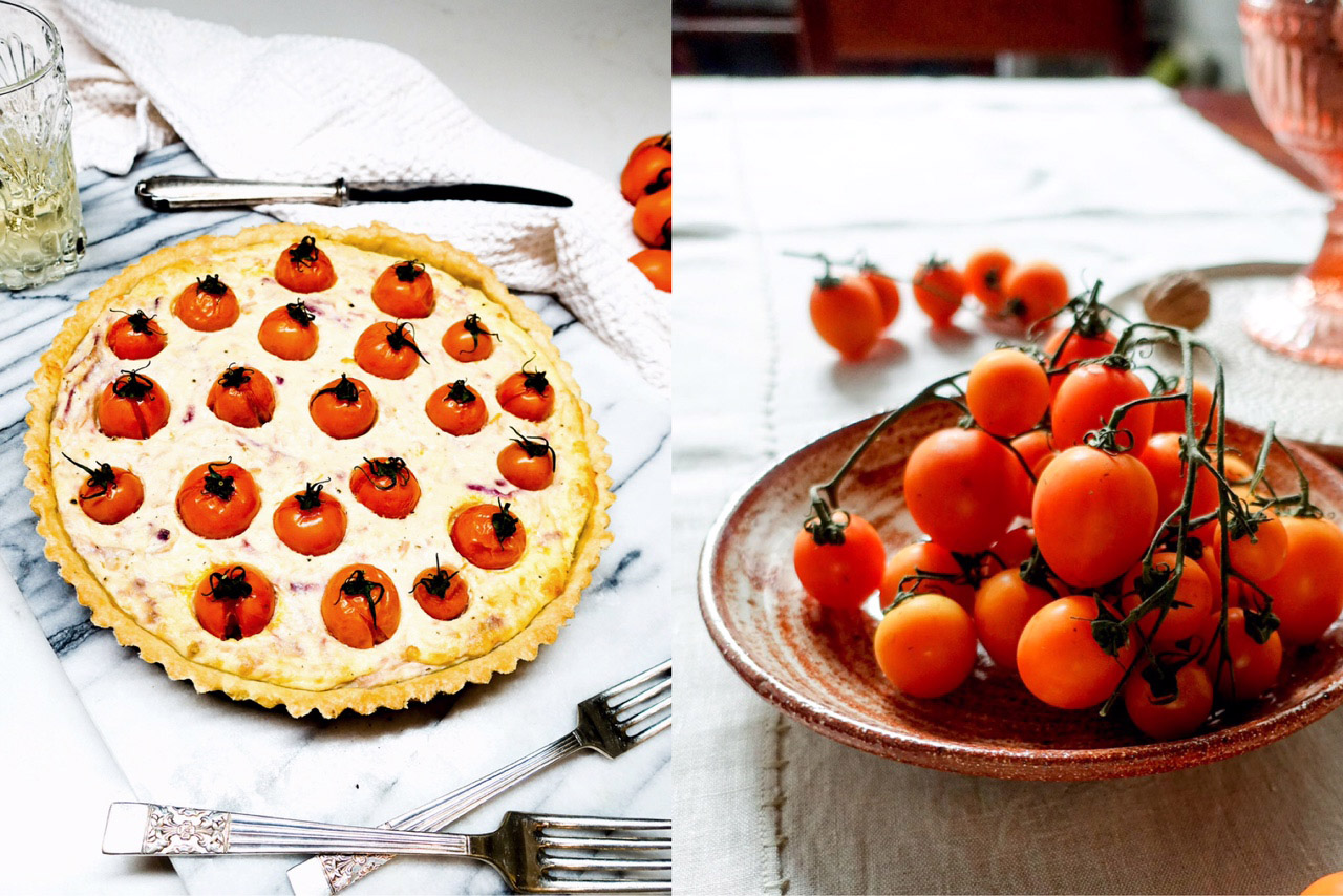 tomato and ricotta pie-italy on my mind
