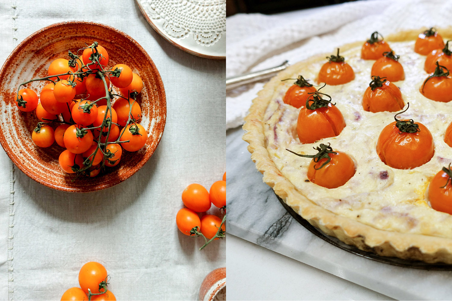 tomato ricotta pie-italy on my mind
