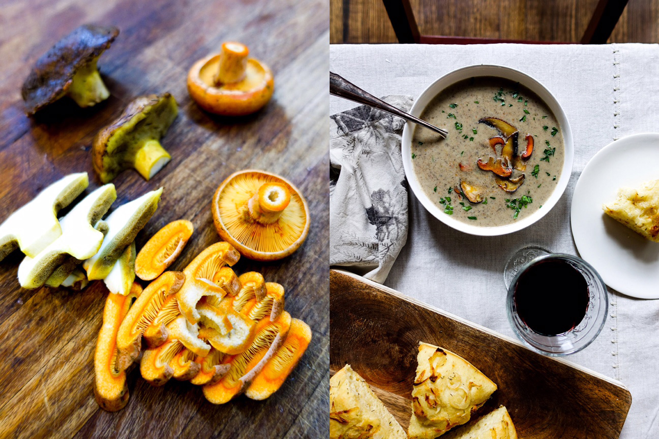 wild mushrooms-soup-italy on my mind