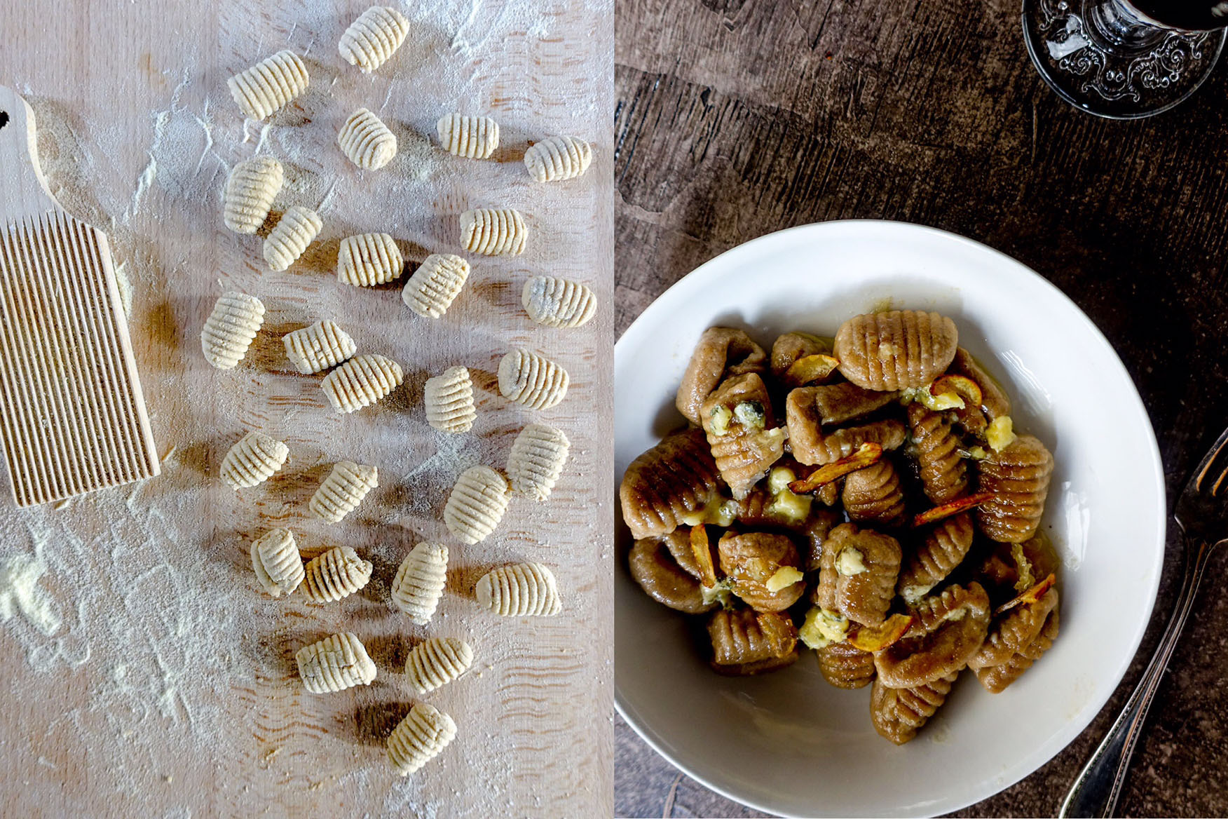 gnocchi with chestnuts-castagne-italy on my mind