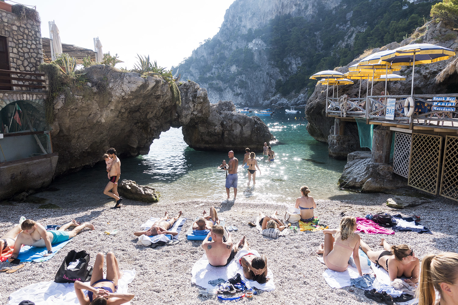 beach marina piccola-capri-italy on my mind