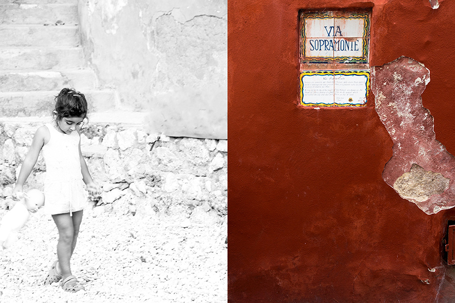 capri-child-red wall-italy on my mind