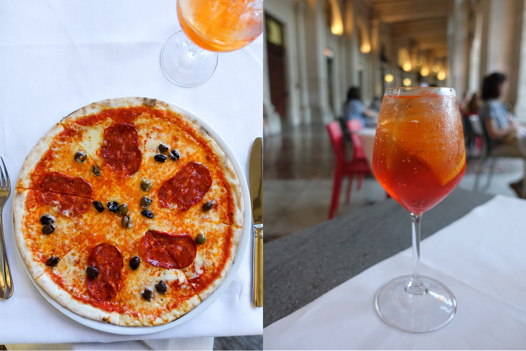 pizza and spritz-rome-italy on my mind