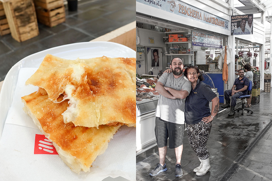 pizza bianca and the testaccio market-italy on my mind