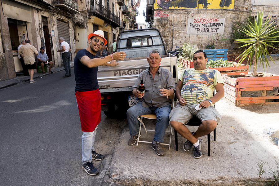three guys in palermo