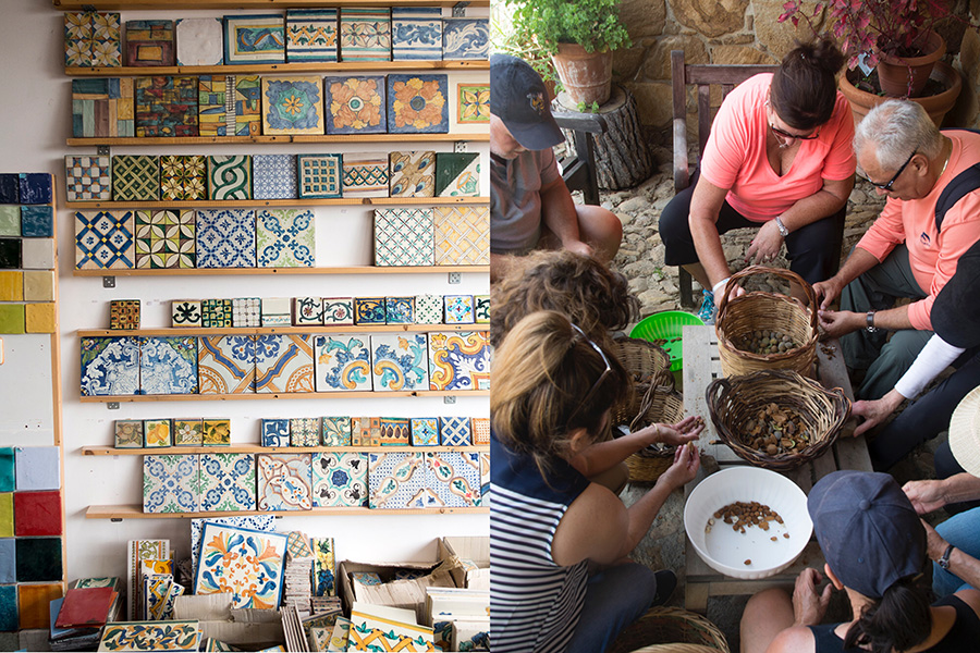 tiles and almonds-anna tasca lanza cooking school-italy on my mind