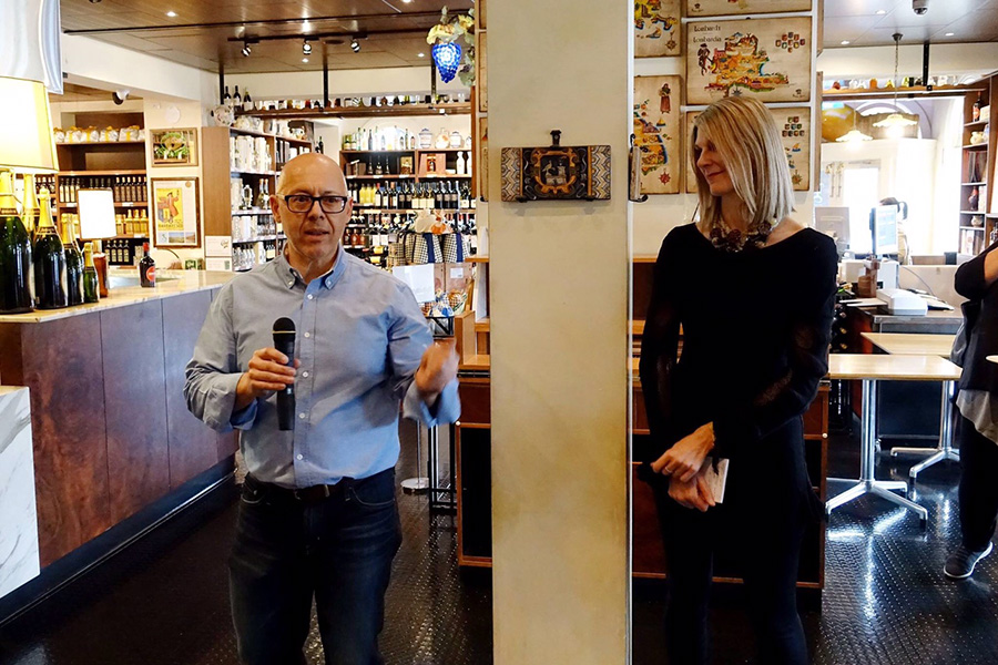 ubaldo and paola-italian street food book launch-enoteca sileno-italy on my mind