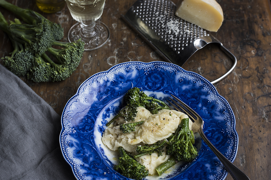 Culurgiones with broccolini – filled pasta from Sardinia
