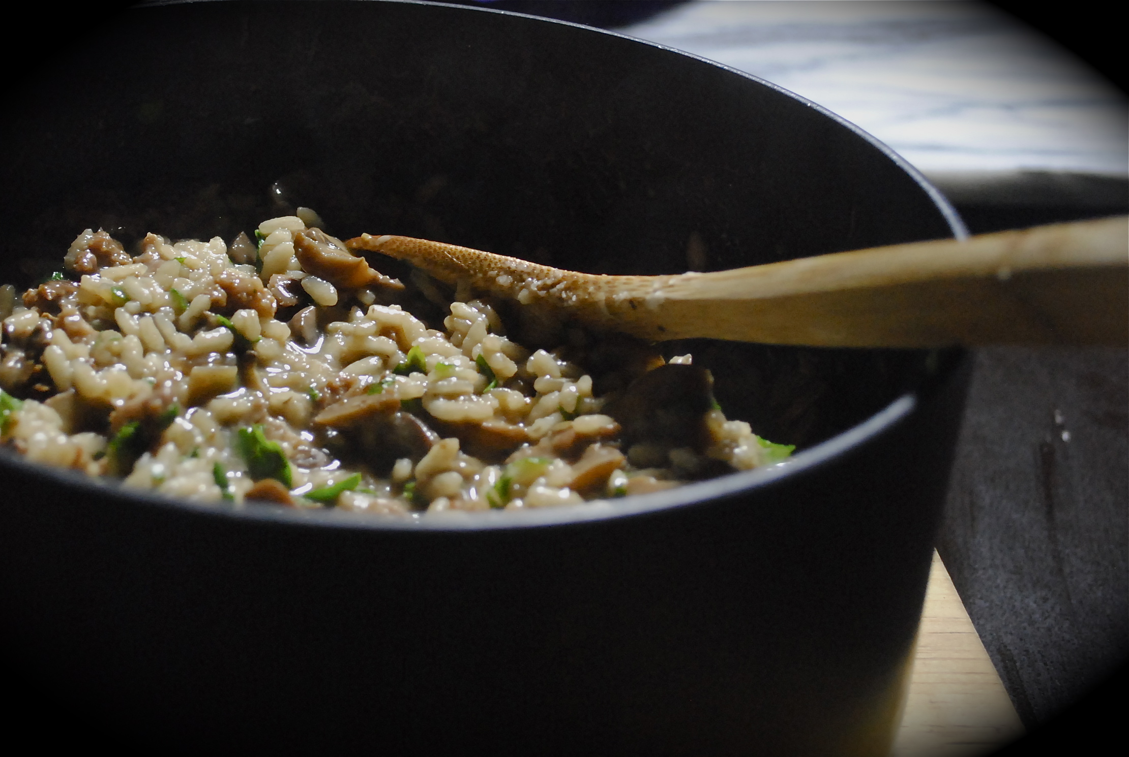 It's a mushroom kind of planet – risotto made from flavours of the forest