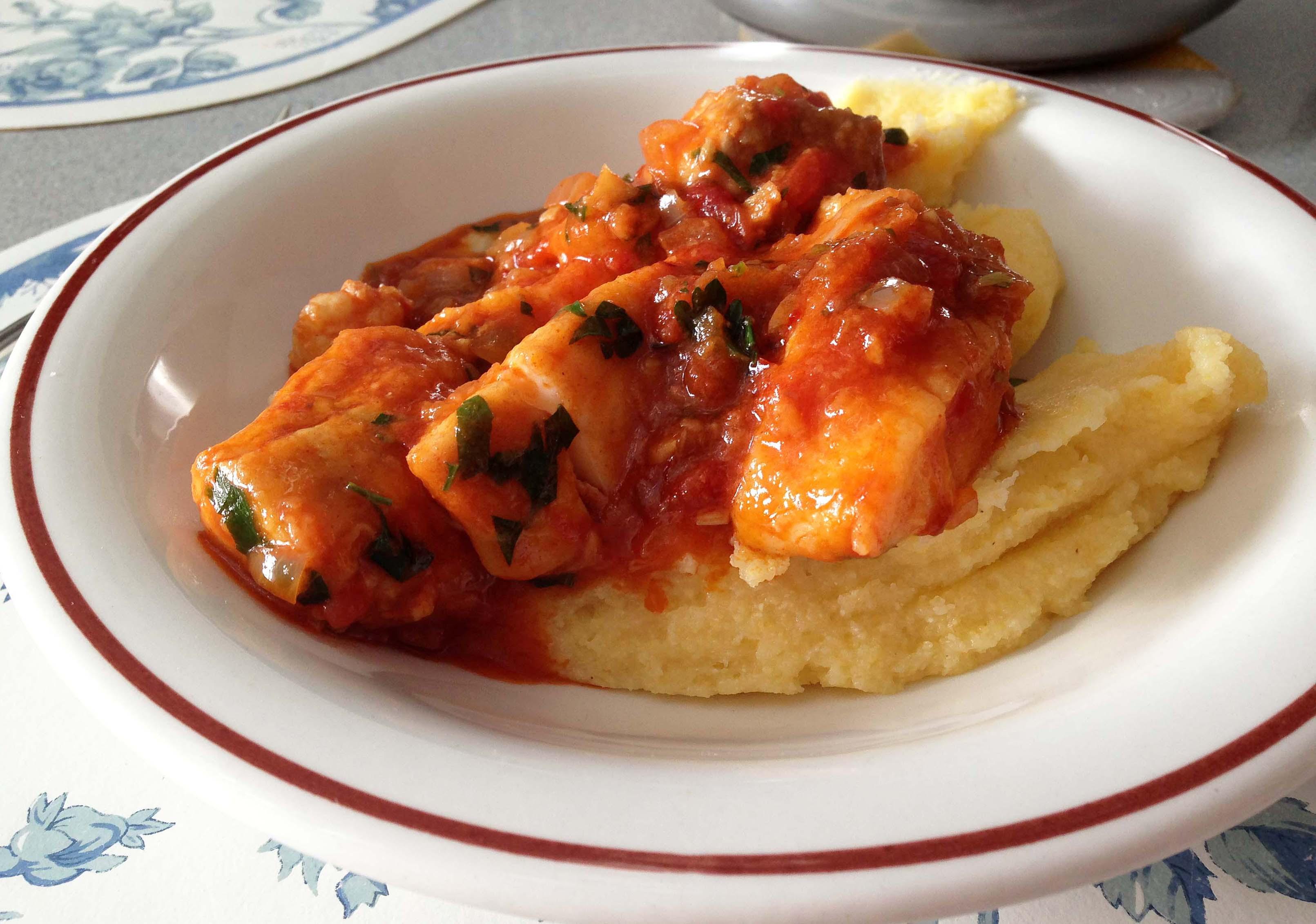 Brodetto di pesce – Italian fish stew with polenta