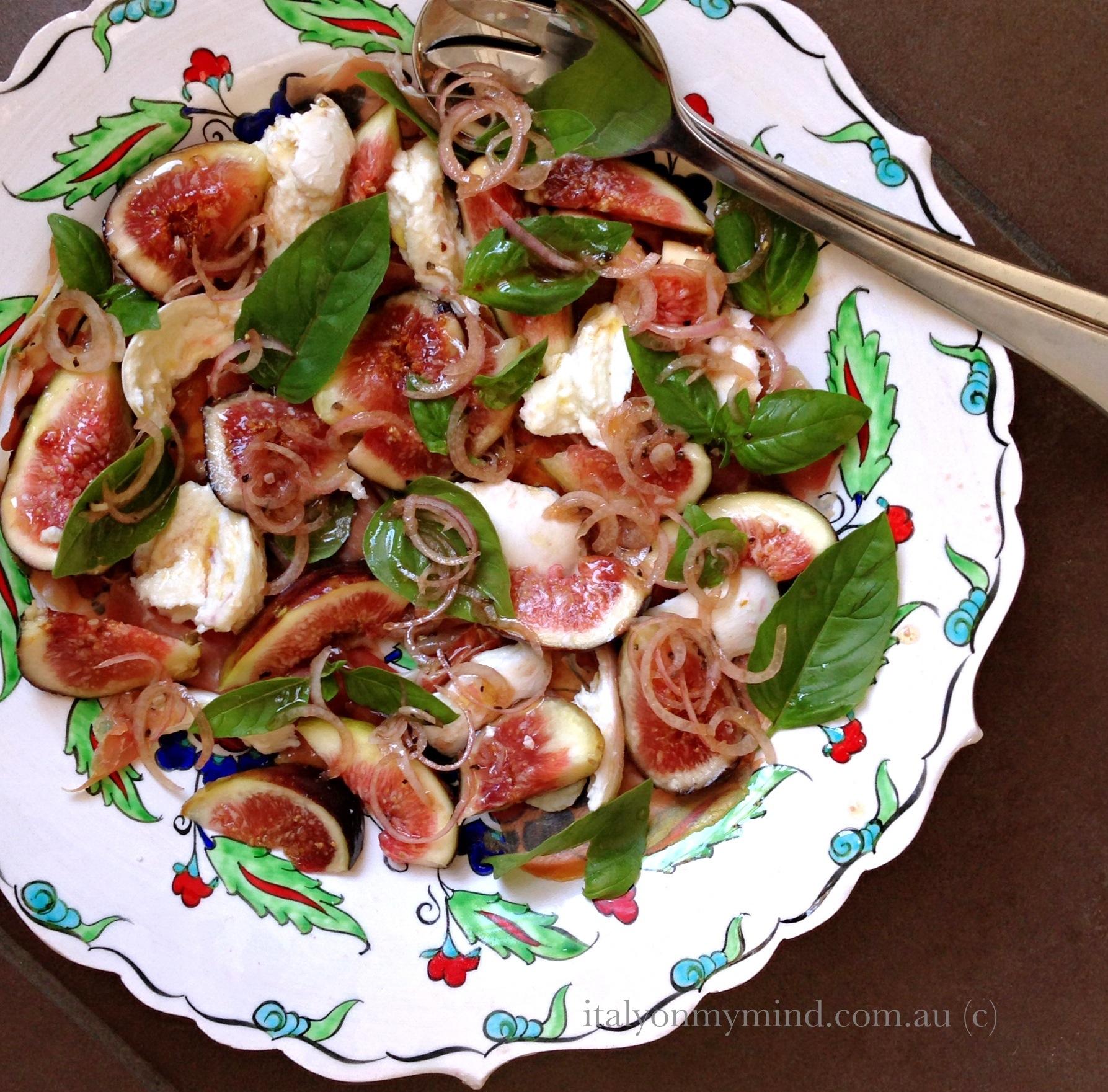 Fig madness – Salad of figs, prosciutto and buffalo mozzarella