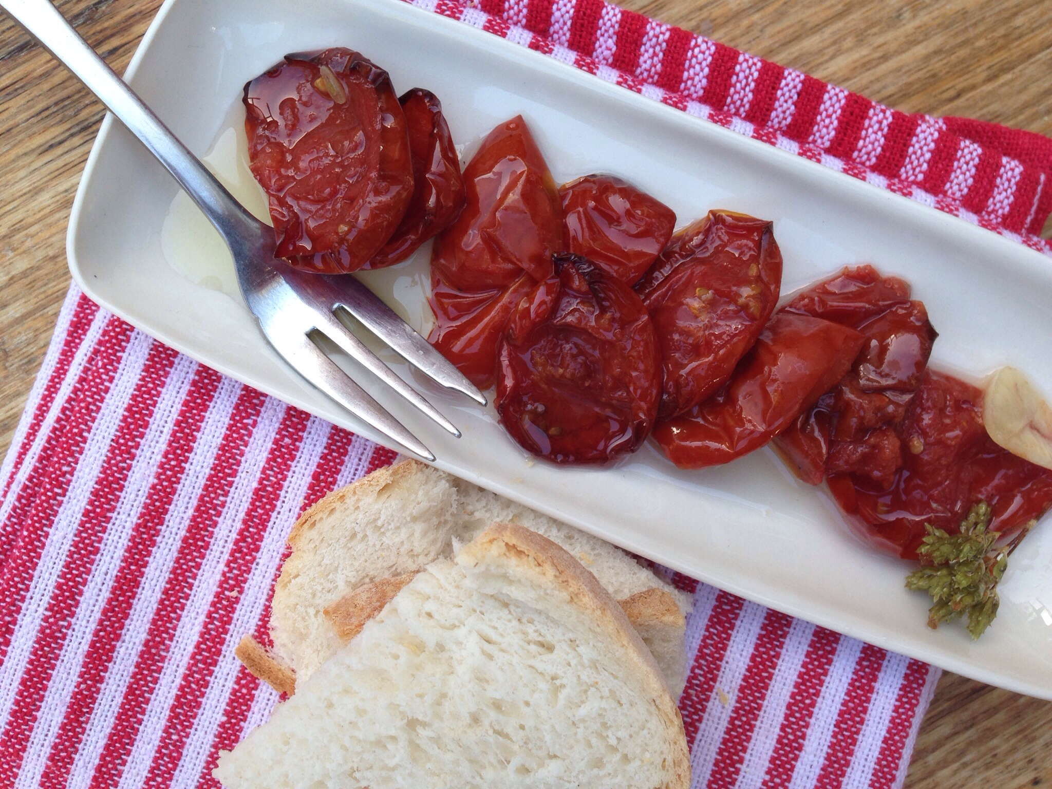 End of the tomato season – oven dried tomatoes