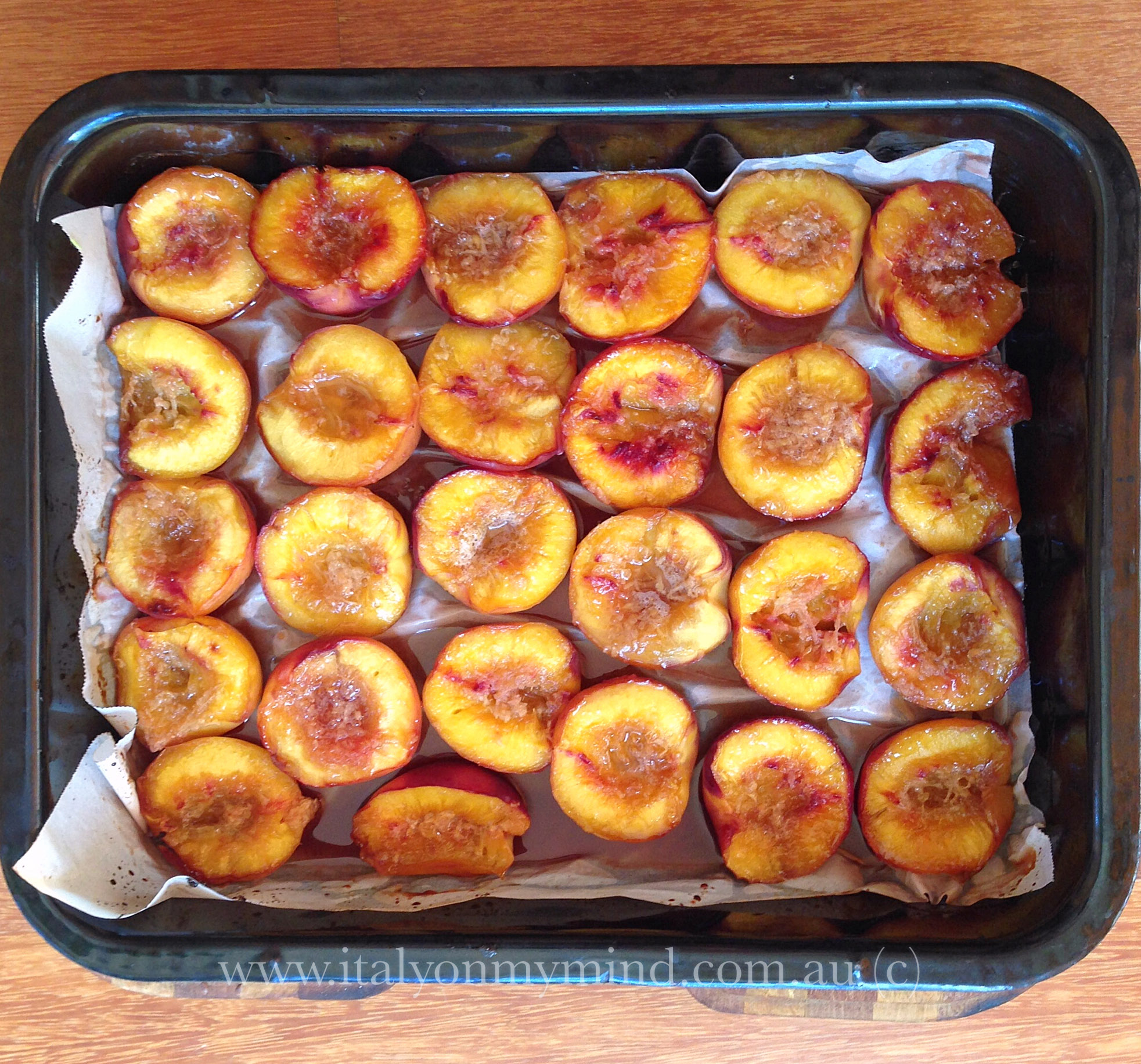 baked nectarines-italian food blog-italy on my mind