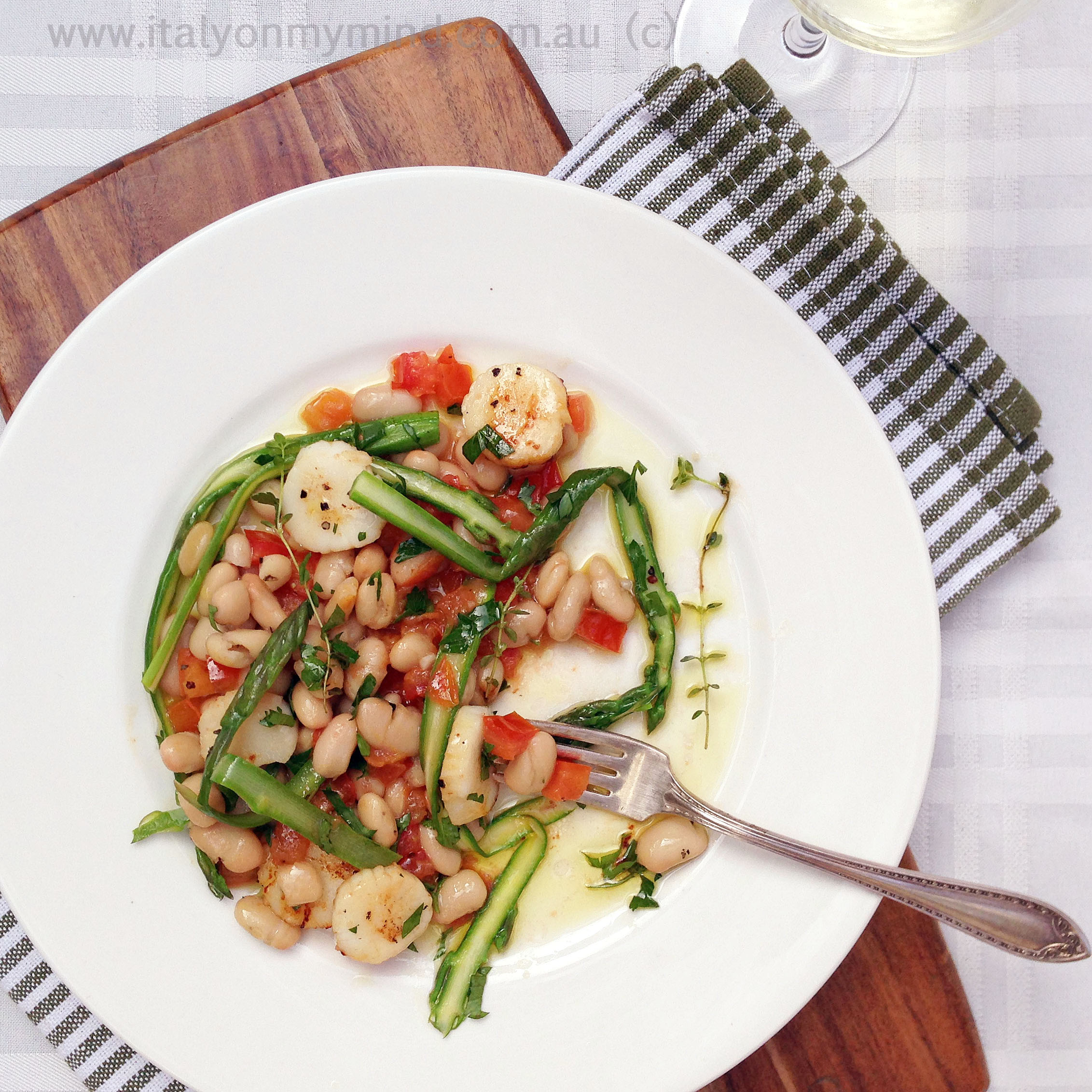 scallop and asparagus salad