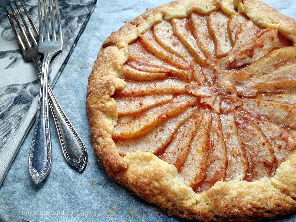 Rustic pear tart – a perfect ending to a winter lunch