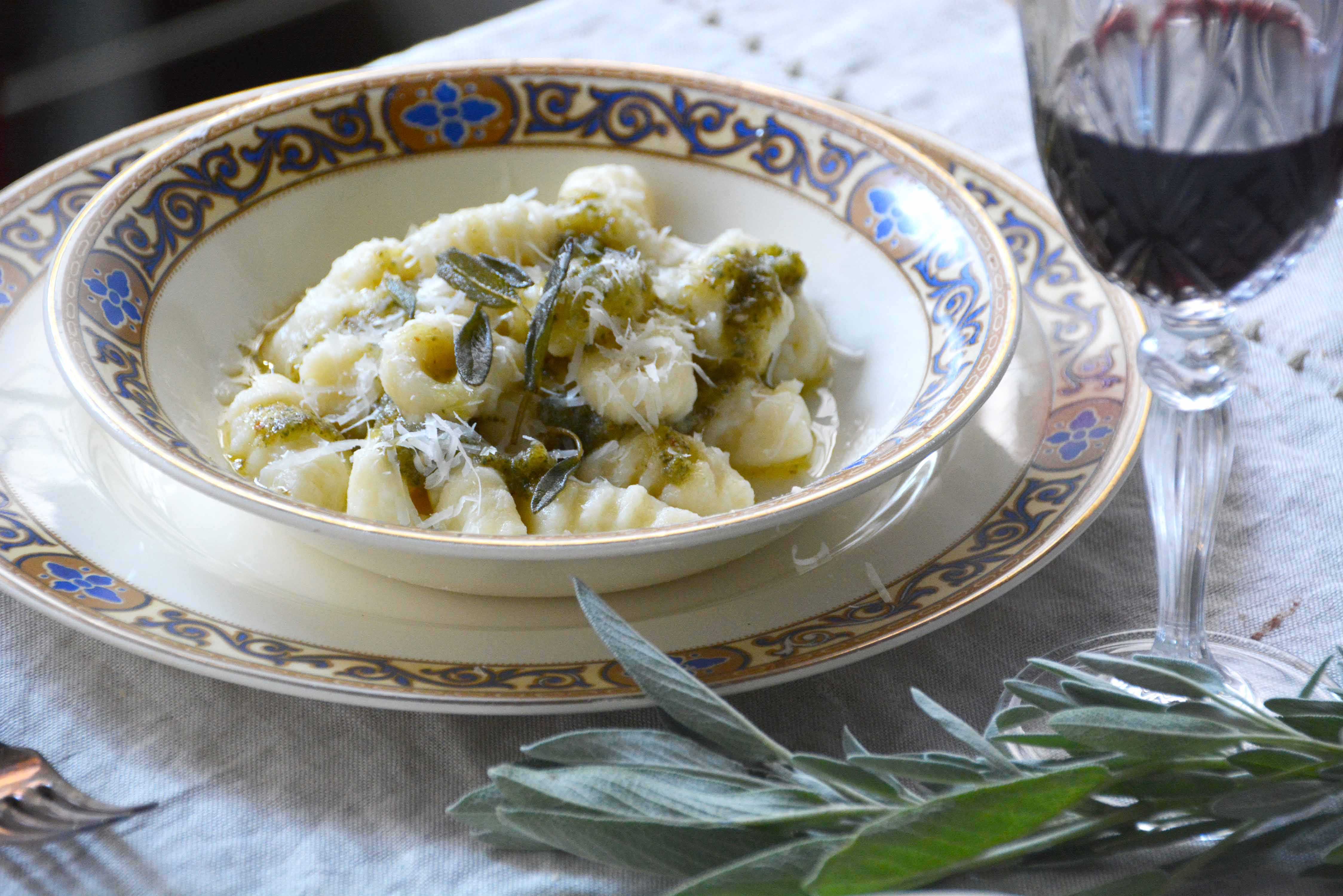 gnocchi with sage and walnut pesto4-italy on my mind