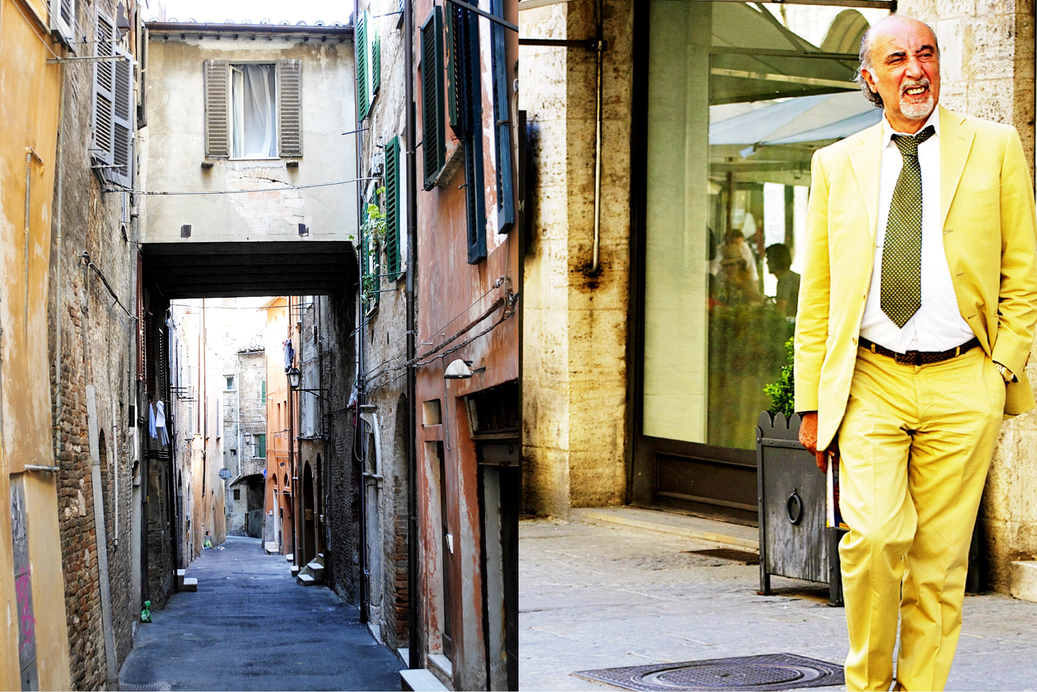 man in yellow-italy on my mind-perugia