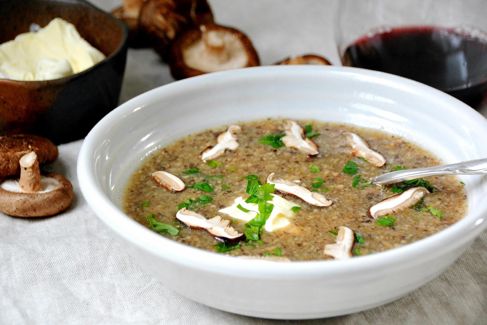 Zuppa di funghi (mushroom soup)