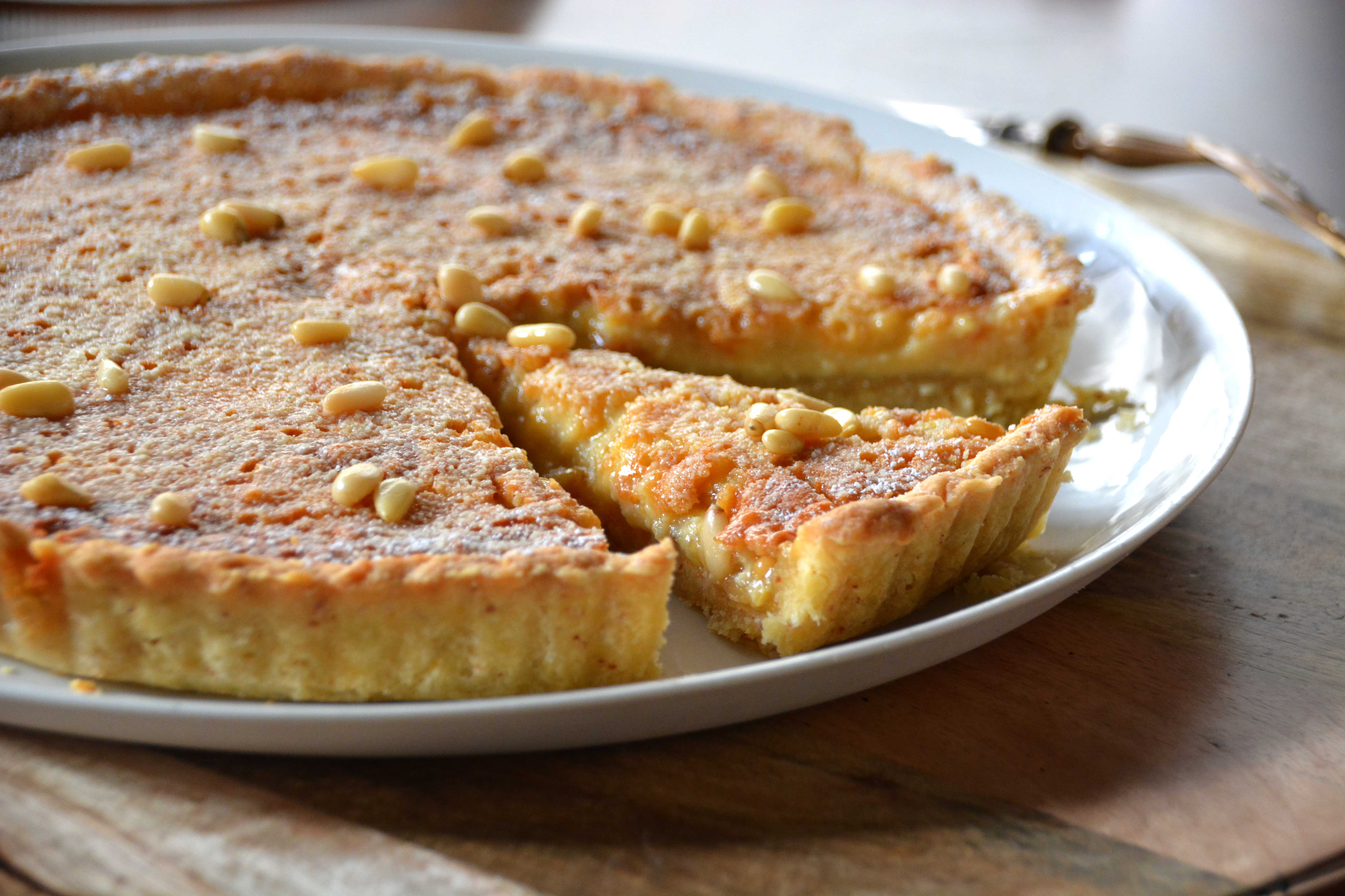 Pine nut, ricotta and lemon tart