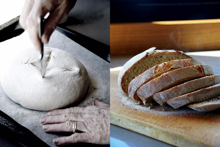 Making sourdough bread and bruschetta in Mansfield