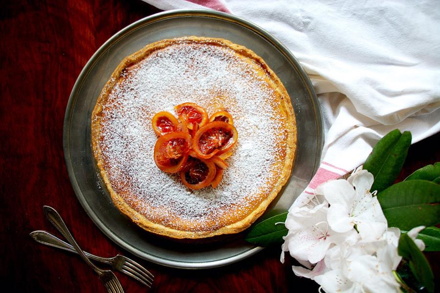 A festive Sicilian ricotta cake
