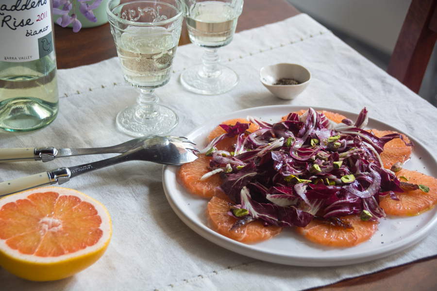 Italian Street Food Book Launch, cooking classes – and a radicchio and grapefruit salad