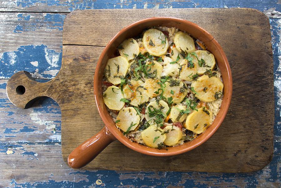 Tiella cozze e riso – rice and mussel bake – a Pugliese classic
